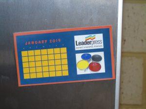 Printed Fridge Magnet Calendar