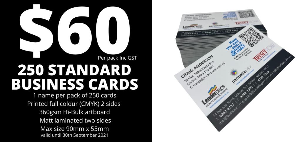 $60 special business card September 2021